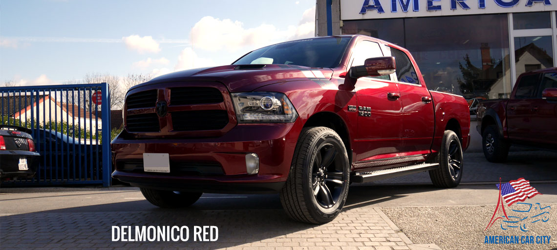 dodge ram black edition delmonico red