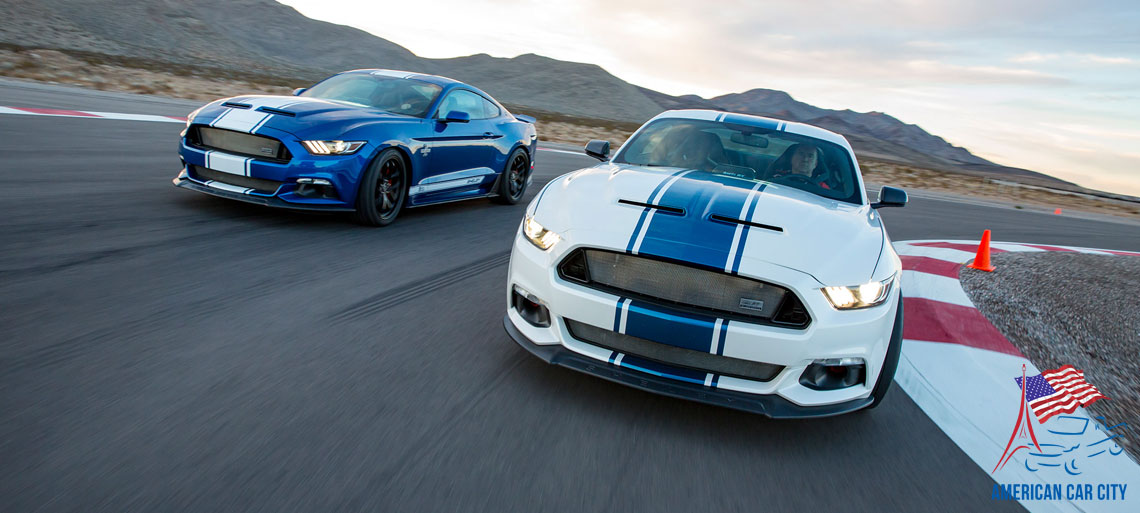shelby mustang super snake blanche bleue