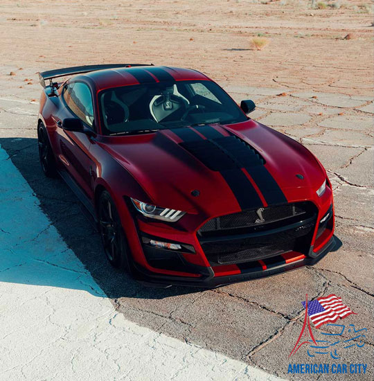 shelby gt500 rouge