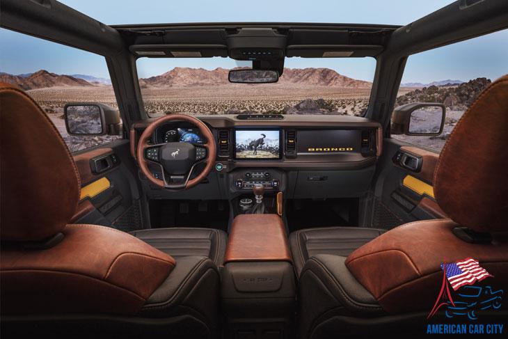 intérieur marron Ford Bronco 2021