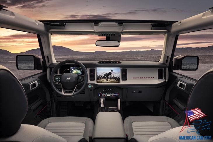 tableau de bord Ford Bronco 2021